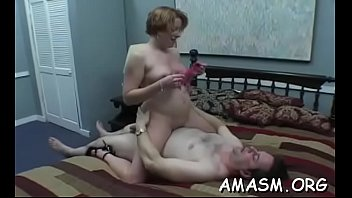 lascivious woman enjoys complete femdom with.