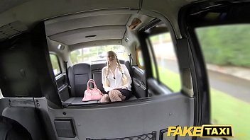 fake taxi blonde likes older men in backseat.