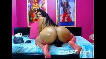 hot latina milf riding a huge dildo - cams45.com