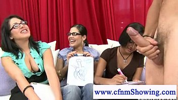 cfnm female judges tease naked male.