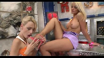 two blonde teens naughty footjob is paid with.