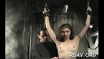 busty hottie gets nipple-tortured in sadomasochism.