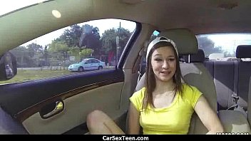 teen hitch hiker blows and flashing.