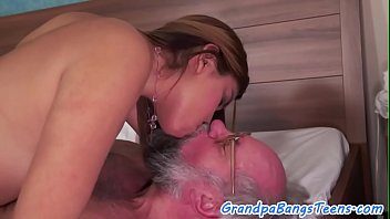 dickloving babe gets screwed by grandpa