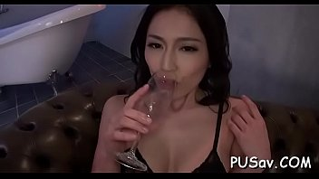 oriental gal takes hard cock and vibrator in.