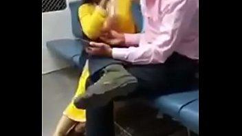 indian couple in train hidden cam