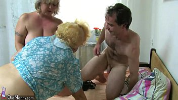 oldnanny bbw mature and old granny with guy.