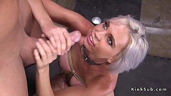 busty blonde fucked in bondage