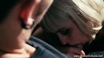 pageboy short haired blonde blowjob