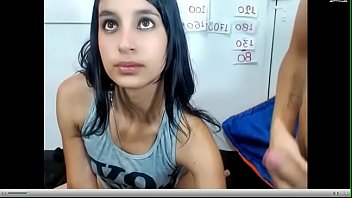 pareja de jovenes en web cam..