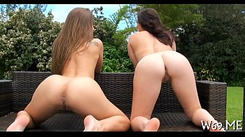 lesbian babes make out with excitement