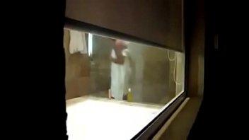 through window i spied my mom in bath room