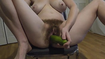 hairy masturbation with cucumber.720p -more on.