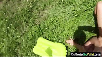 (alex &amp_ kelsi) teen college girls get banged.