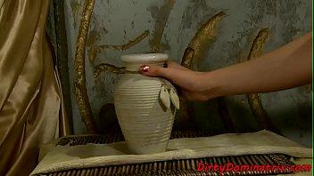 oiledup master tormenting her slave