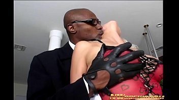 hot blonde slut nikki hunter anal interracial sex.