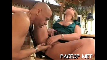 awesome ebon femdom making white slave.