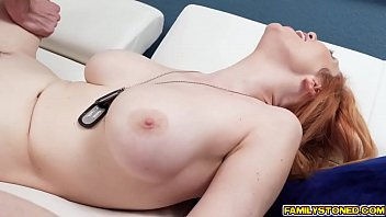 bored military wife crawls over and blowjob her.