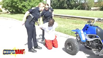 a black street racer gets arrested and dirty.