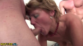 brunette matures having fun with younger.