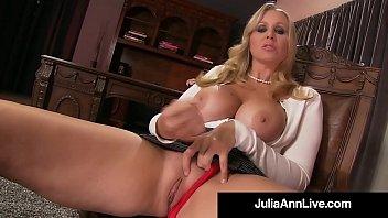 stepmom julia ann shows stepson how to jack.
