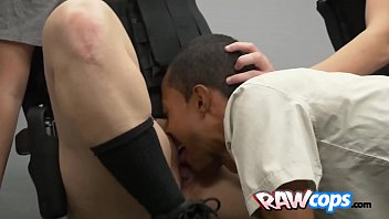 big ass milf officers interrogating a thick bbc.
