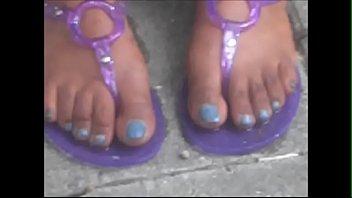 hood milf blue toenails