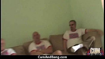 cum and bang - group facial.