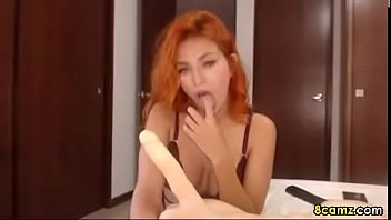cute babe playing and sucking