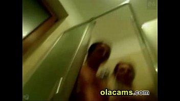 hot lesbians touching on shower webcam