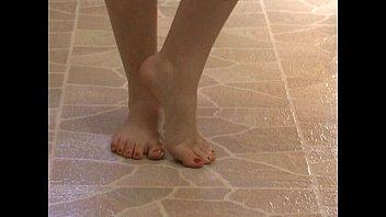 foot fetish - sexy feet stroking.