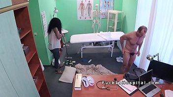 doctor fucks ebony cleaning lady in.