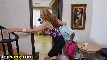 julia ann&#039_s pervert step son fancies the maid.