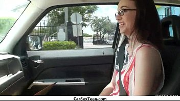 amateur teen girl hitch hiking for a ride.