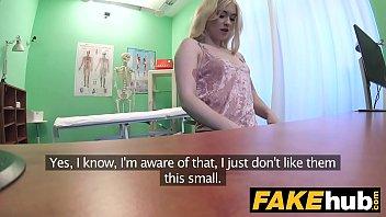 fake hospital fit blonde sucks cock so doctor.