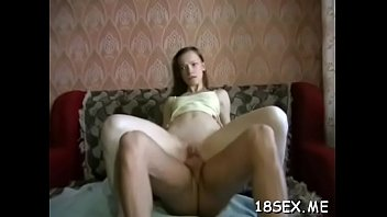 an amateur girl is having her 1st fuck.