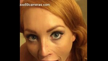 redhead deepthroat and cum eating