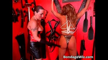 hot tied blonde gets butt and.