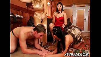 horny fetish action with dude getting dominated by.