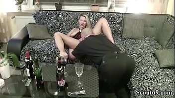 blonde milf drunk with wine more at jungleofsex com