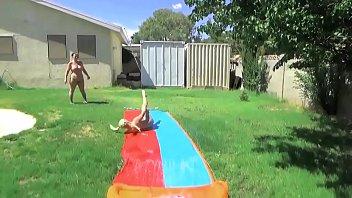 naked girls slip-n-slide
