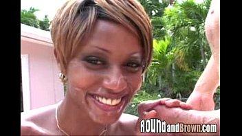 black girl gets creamed on