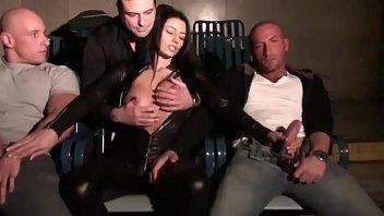 italian pornstar sofia gucci handles a group of.
