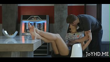 pecker rams teen bawdy cleft and.