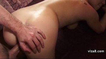 horny girl is pimped out for sex by.