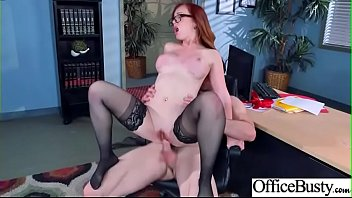 (dani jensen) office busty slut girl in hard.