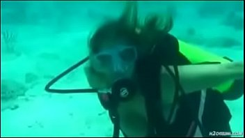amber bach masturbates in deep ocean.