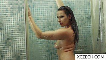 erotic showering with super hot milf