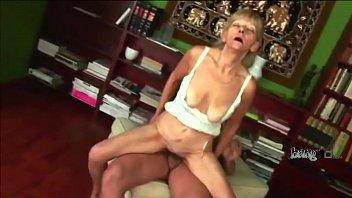 slim granny banging a young dude.