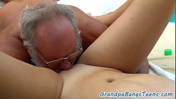 cute masseuse doggystyled by oldman